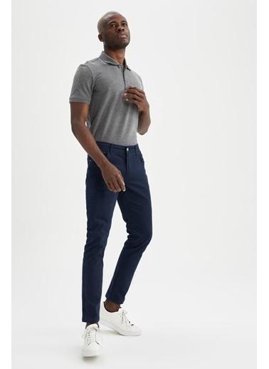DeFacto Regular Fit Polo Yaka Basic T-shirt Antrasit